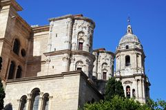 Cathedral, Malaga, Spain. Royalty Free Stock Images
