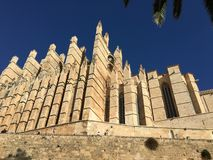 Cathedral of Mallorca. Palma de Mallorca& x27;s majestic cathedral Royalty Free Stock Photo