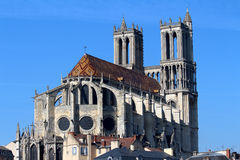 CATHEDRAL Mantes stock photos