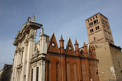 Cathedral in Mantova Stock Photography