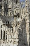 Cathedral marble decoration, Milan Royalty Free Stock Images