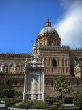 Cathedral Maria Santissima Assuanta of Palermo in Sicily Royalty Free Stock Photo