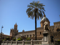 Cathedral Maria Santissima Assuanta of Palermo in Sicily Stock Photo