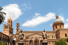 Cathedral Maria Santissima Assuanta of Palermo in Sicily Stock Images