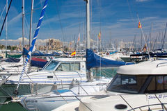 Cathedral and marina Stock Photography