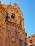 The cathedral of Marsala. Trapani Province, Sicily stock image