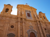The cathedral of Marsala. Trapani Province, Sicily stock photos