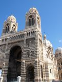 The cathedral of Marseille. Marseille is the largest city in southern France, as well as the first port of France and the Mediterranean, and the fifth at the royalty free stock photo