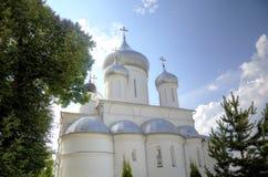 Cathedral of Martyr Nikita and chapel `Stolp Pillar`. Nikitsky Monastery. Pereslavl, Russia Royalty Free Stock Photo