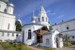 Cathedral of Martyr Nikita and chapel `Stolp Pillar`. Nikitsky Monastery. Pereslavl, Russia Stock Photos