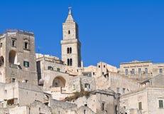 Cathedral of Matera. Basilicata. Italy. Stock Photos