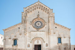 Cathedral of Matera, Basilicata, Italy Stock Photography