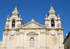 Cathedral in Mdina Stock Photo