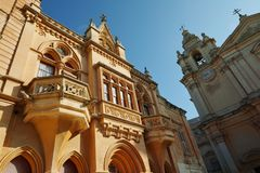 Cathedral of Mdina. The silent city, Malta Royalty Free Stock Image
