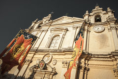 Cathedral in Mdina, Malta Stock Images