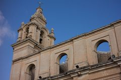 Cathedral of Mdina. The silent city, Malta Royalty Free Stock Photo