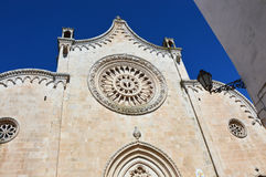 Cathedral of the medieval town of Ostuni in Apulia, South Italy Stock Photo