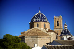 Cathedral of Mediterranean town Altea,. Spain Royalty Free Stock Image