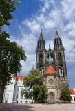Cathedral of Meissen. Cathedral in the Domplatz of Meissen Royalty Free Stock Photos