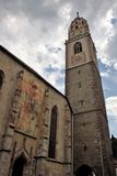 The cathedral of Merano stock photography
