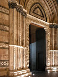 Cathedral of Messina: door Royalty Free Stock Photo