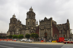Cathedral Metropolitan in the Zocalo Stock Images