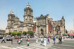 Cathedral Metropolitana in the center of Mexico City Stock Photo