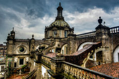 Cathedral Metropolitana, Mexico City, Roof View Royalty Free Stock Image