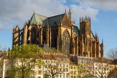 Cathedral of Metz Royalty Free Stock Images