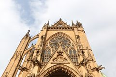 Cathedral of Metz, France. The gothic cathedral of Metz in France Royalty Free Stock Image
