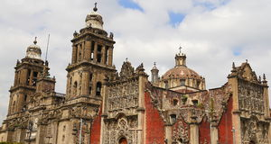 Cathedral of mexico city IV Royalty Free Stock Photos