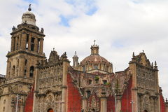 Cathedral of mexico city V Stock Photography