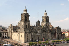 Cathedral of mexico stock photos