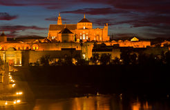 Cathedral (Mezquita) of Cordoba at night, Spain Stock Photo