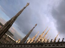 Cathedral in Milan Royalty Free Stock Photography