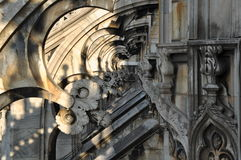 Cathedral of Milan. Milan cathedral - a beautiful architectural masterpiece royalty free stock images