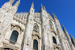 Cathedral in Milan. The cathedral church of Milan, Italy. Dedicated to St Mary of the Nativity (Santa Maria Nascente Stock Photo