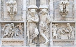 Cathedral of milan.detail Royalty Free Stock Photo