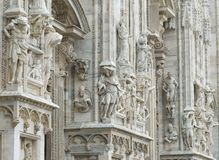 Cathedral of milan.detail Royalty Free Stock Image