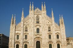 Cathedral in Milan, Duomo. The famous Duomo, cathedral church of Milan in Lombardy, Italy Stock Photos