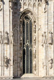 Cathedral of Milan - high window Royalty Free Stock Photo