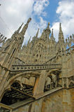Cathedral Milan Italy. Detail from cathedral in Milan Stock Images