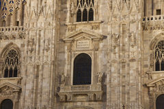 Cathedral of Milan at night Stock Photography