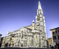 The cathedral of Modena and Ghirlandina bell tower Stock Photography