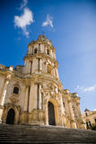 Cathedral, Modica, Italy. The baroque cathedral of Modica  in southern Sicily in Italy Royalty Free Stock Images