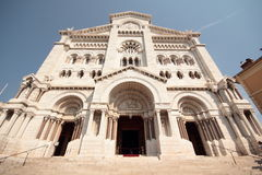 Cathedral in Monaco. A low perspective of the cathedral in Monaco Stock Images