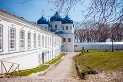 Cathedral at  monastery, Novgorod the Great Stock Photography