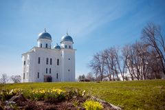 Cathedral at  monastery, Novgorod the Great Royalty Free Stock Photography