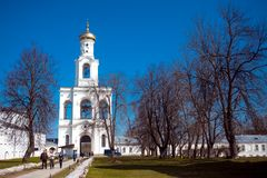 Cathedral at  monastery, Novgorod the Great Stock Photo