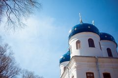 Cathedral at  monastery, Novgorod the Great Stock Photos